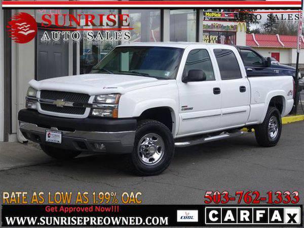 2004 *Chevrolet* *Silverado* *2500* LS 4dr Crew Cab,DIESEL, DURAMAX,4W