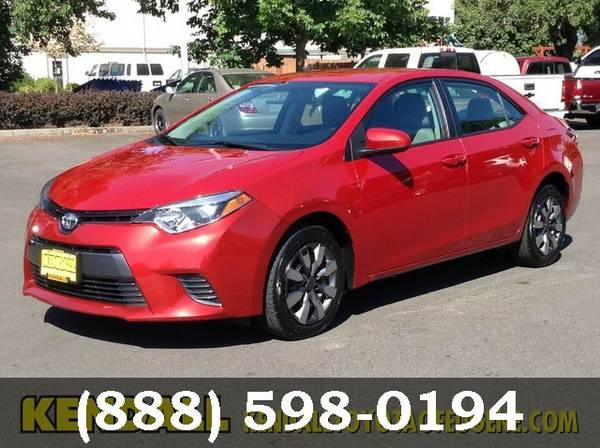 2015 Toyota Corolla MED RED FOR SALE - GREAT PRICE!!