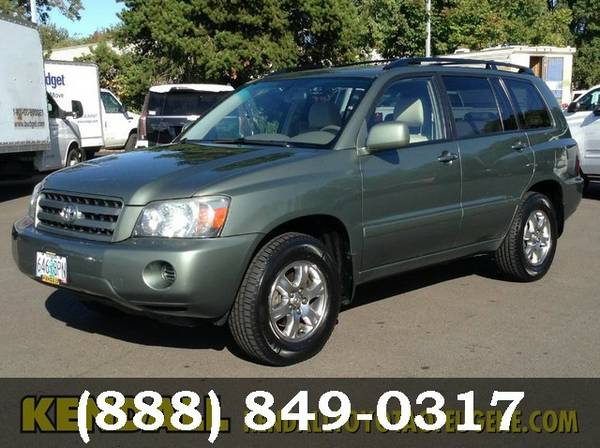 2004 Toyota Highlander Oasis Green Pearl Call Now and Save Now!