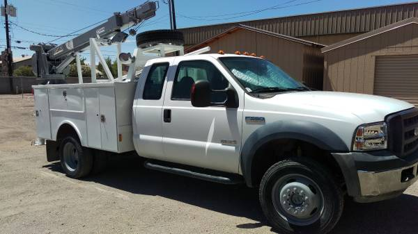 ford f550 crane tool truck