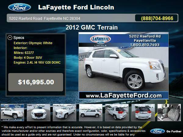 2012 GMC Terrain 4 Door SUV Olympic White