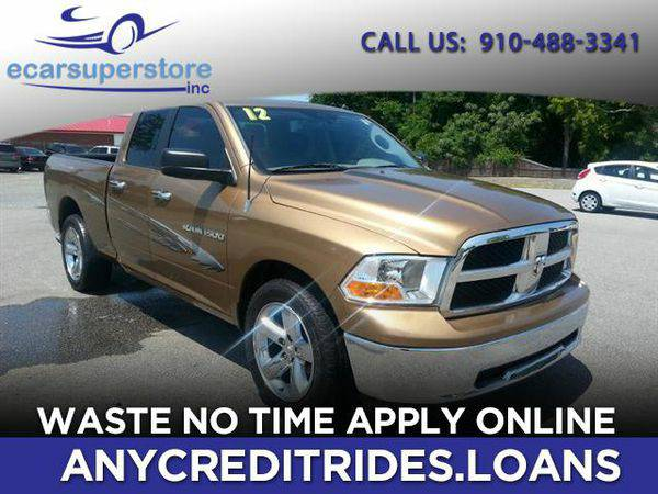 2012 *RAM* *1500* SLT Quad Cab 2WD You're Approved or Car is *Free