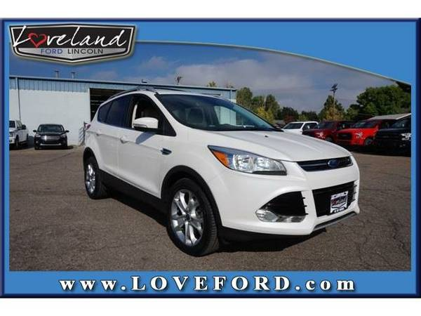 2016 *Ford Escape* Titanium - Ford White Platinum Metallic Tri-Coat