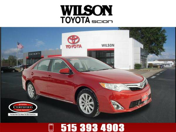 2012 Toyota Camry XLE V6 Red