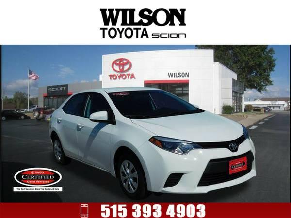 2014 Toyota Corolla L White