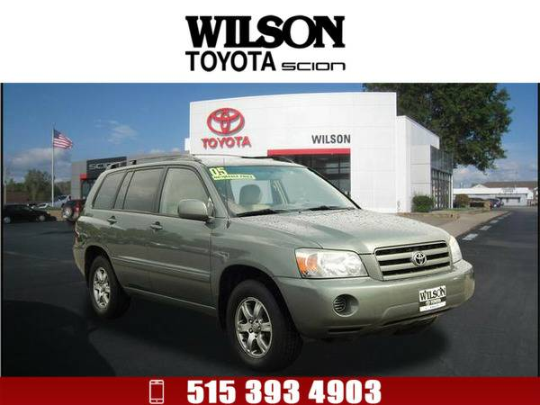 2005 Toyota Highlander Base Lt. Green