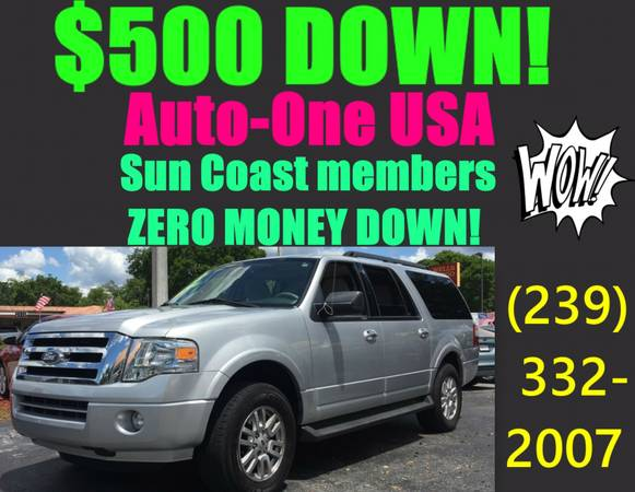 2013 FORD EXPEDITION EL*$500 DOWN!*WOW!!TAKE IT HOME TODAY!
