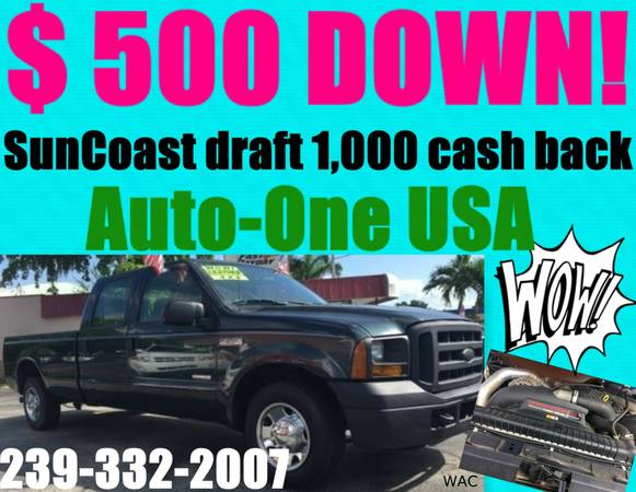2007 FORD F-250 CREW CAB*$500 DOWN!*YOU WORK,YOU DRIVE!
