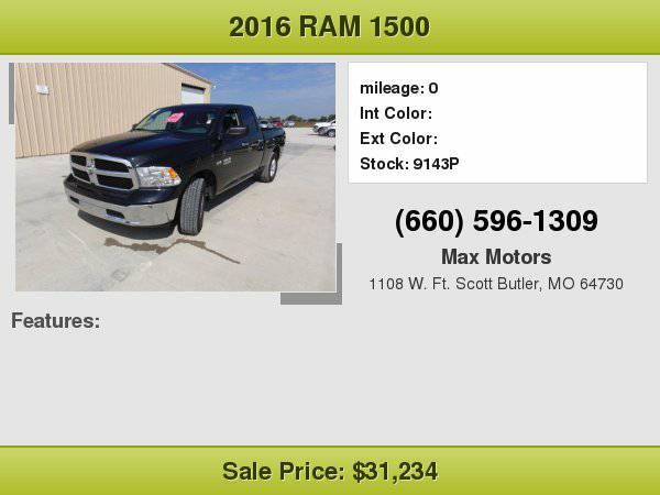 2016 Ram 1500 SLT **WE FINANCE**WE LOVE TRADE-INS**