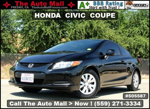 2012 HONDA CIVIC LX COUPE * TINTED WINDOWS * KEY REMOTE * USB PORT