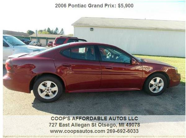 2006 PONTIAC GRAND PRIX 4DR FINANCING AVAILABLE!!