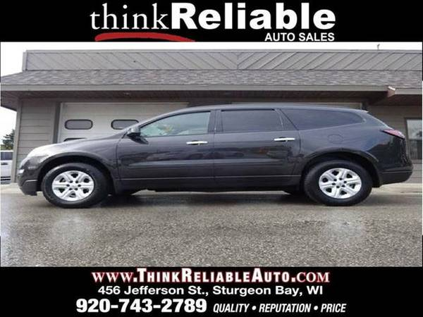 2014 CHEVROLET TRAVERSE LS FWD V-6 1-OWNER 22K MI CAMERA 8 PASS TOWPKG