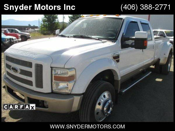 2008 Ford F-450 Crew Cab King Ranch 4x4 Super Clean New Tires LOADED!