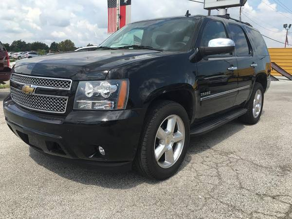 2010 CHEVY TAHOE LTZ •3RD ROW BLACK LEATHER!•$2500 DOWN TODAY!