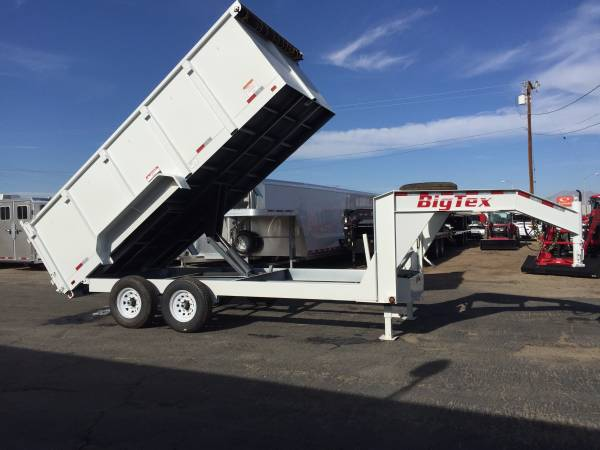 Gooseneck Dump Trailer for Sale, Big Tex Dump Trailer 14GX-16-4