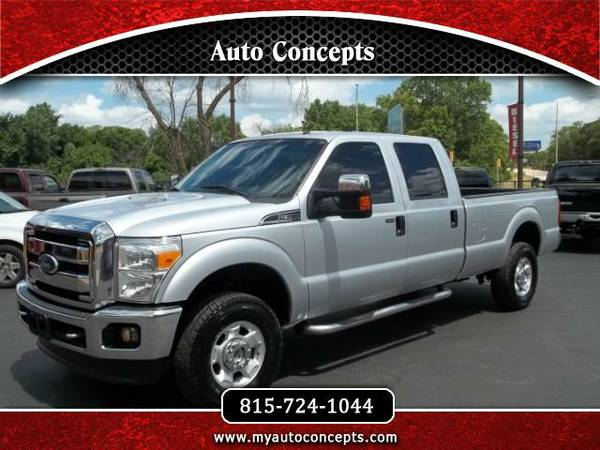 2011 FORD F-350 SD XLT CREW CAB 4X4 LONG BED TRUCK 6.2L V8 RUST FREE