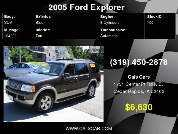 2005 Ford Explorer 4dr 114 WB 4.6L Eddie Bauer 4WD