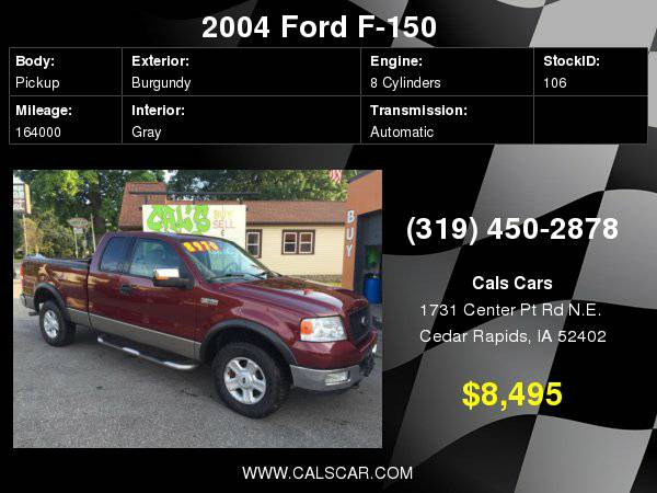 2004 Ford F-150 Supercab 145 XLT 4WD with Driver