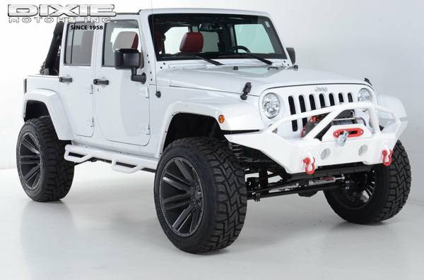 2015 JEEP SAHARA 4WD WHITE OUT CUSTOM ONE OF A KIND 6 IN STOCK