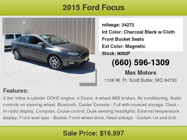 2015 Ford Focus SE **WE FINANCE**WE LOVE TRADE-INS**