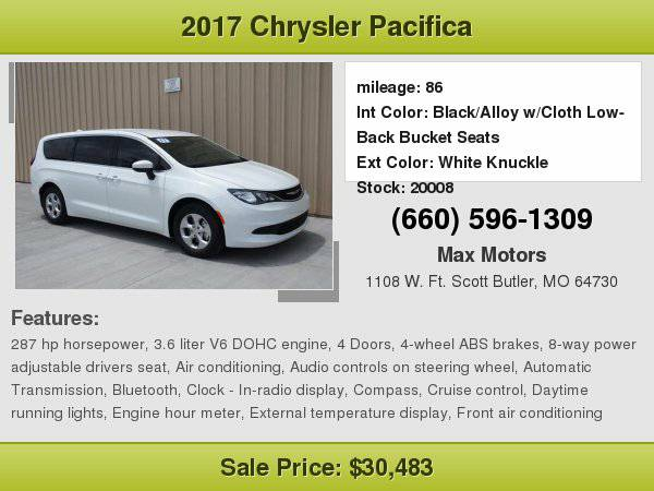 2017 Chrysler Pacifica LX **WE FINANCE**WE LOVE TRADE-INS**