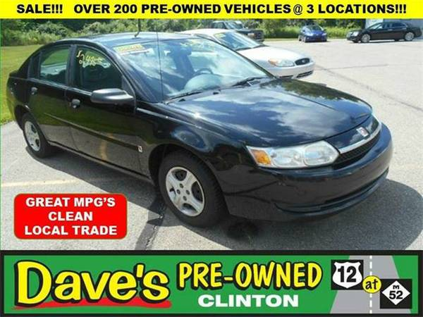 2003 *Saturn iOn* 1 4dr Sedan - BLACK