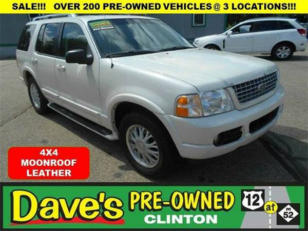 2003 *Ford Explorer* Limited 4WD 4dr SUV - WHITE