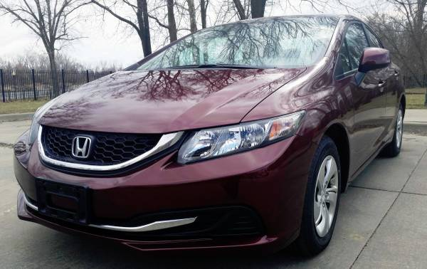 2013 Honda Civic LX w Eco w 23k! CAMERA 1 Owner OFF LEASE Fctry Wrnty