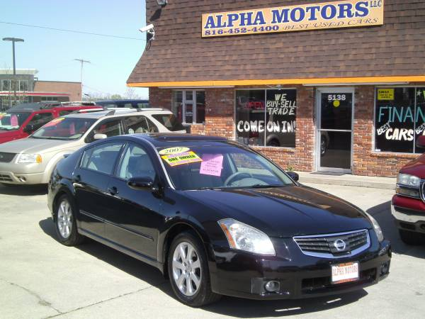 2007 NISSAN MAXIMA SL W/ NAVIGATION, MOONROOF AND MUCH MORE!