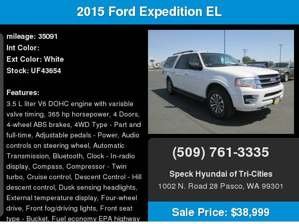2015 Ford Expedition EL with