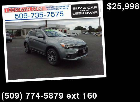 2016 Mitsubishi Outlander Sport 2.4 GT AWD 4dr Crossover Gray