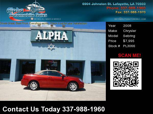 2008 Chrysler Sebring 2 Dr Convertible