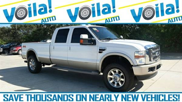 2008 FORD F-350 KING RANCH TRUCK, WHITE