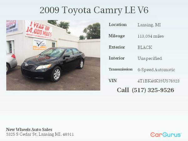 SHARP!! 2009 Toyota Camry LE V6 // 1 YEAR WARRANTY INCLUDED WITH!!!...