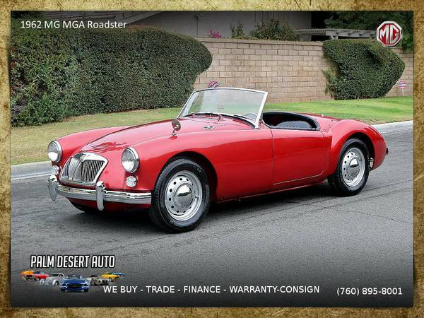 This 1962 MG MGA Roadster Convertible is VERY CLEAN!