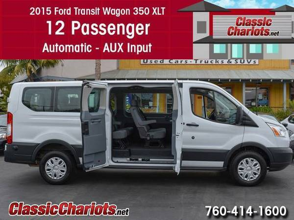 2015 *Ford* *Transit* 350 *12 Passenger* Wagon - Clean Carfax