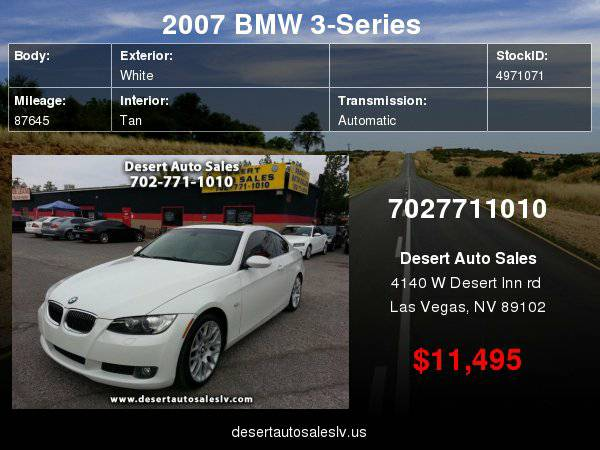 2007 BMW 3-Series 328i Coupe with