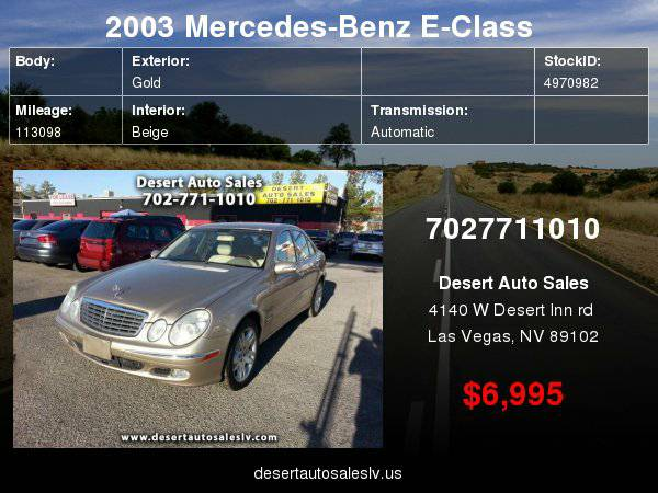 2003 Mercedes-Benz E-Class E500 with