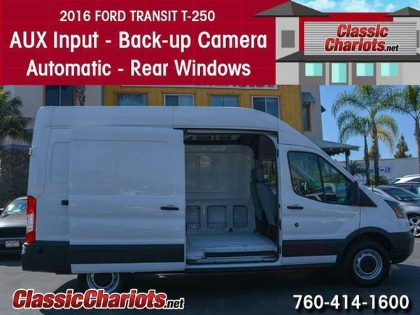 2016 *Ford* 250 *Transit* *Cargo* *Van* *High* *Roof* *Raised* Roof -