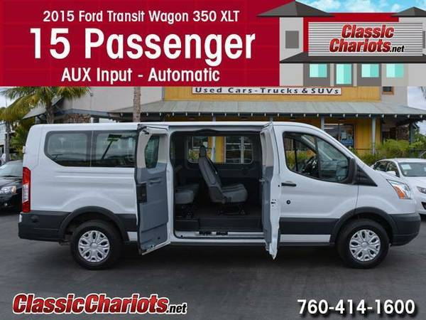 2015 *Ford* *Transit* *Wagon* 350 XLT *15 Passenger* Van - Rear AC