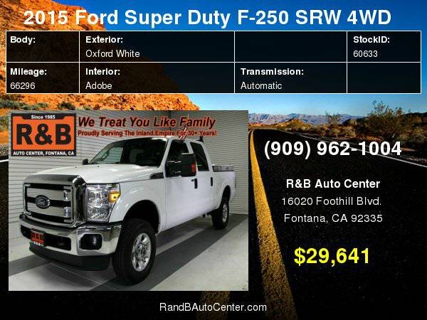 2015 Ford Super Duty F-250 SRW XLT Easy Financing For All Credit