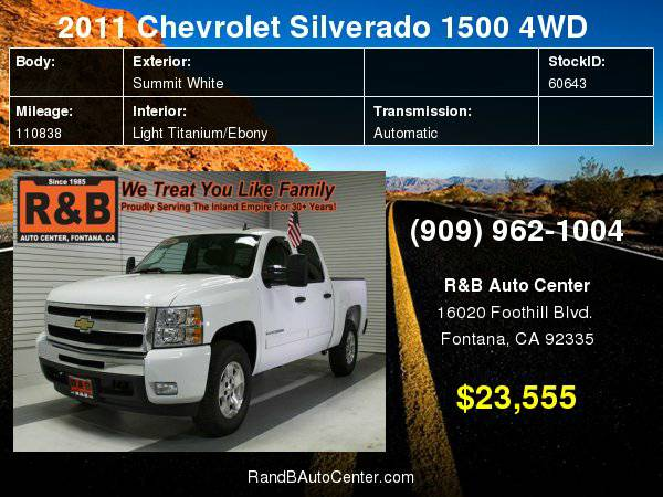 2011 Chevrolet Silverado 1500 LT Easy Financing For All Credit