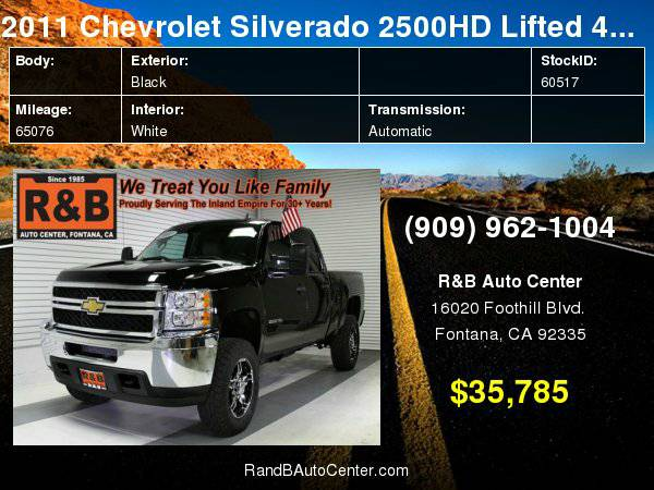 2011 Chevrolet Silverado 2500HD LT FREE AAA Membership with purchase