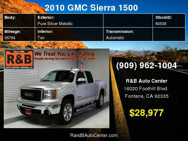2010 GMC Sierra 1500 SLT BEST PRICE!