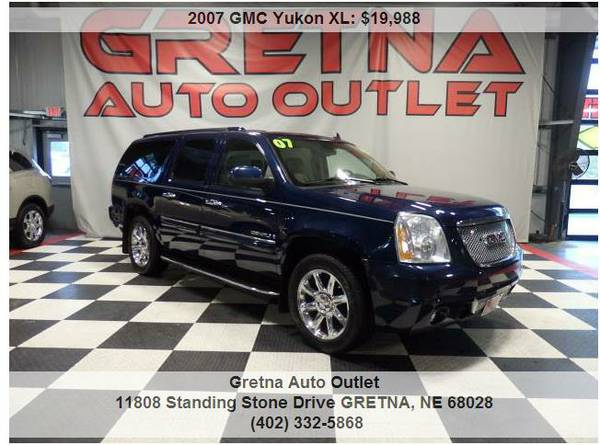 2007 GMC Yukon*DENALI XL AWD GREAT TIRES QUADS NAV ROOF REAR DVD 3RD*