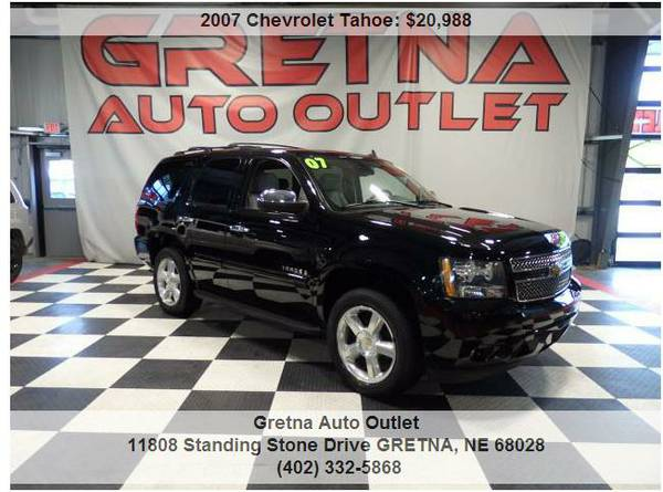 2007 Chevrolet Tahoe*LTZ 4X4 HEATED LEATHER REAR DVD 1 OWNER 3RD ROW!!