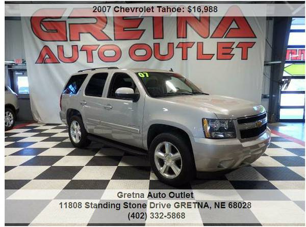 2007 Chevrolet Tahoe*LTZ 4X4 HEATED LEATHER REAR DVD 5.3L VORTEC V8*