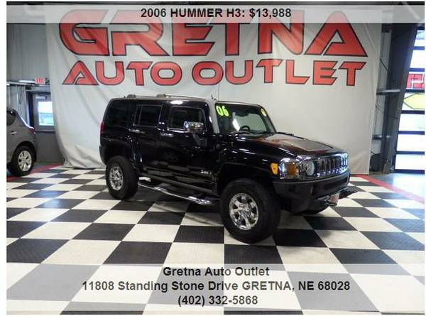 2006 HUMMER H3*LUXURY PACKAGE 4X4 BLACK ON BLACK 114K LEATHER ROOF**