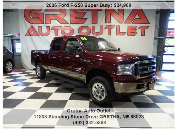 2006 Ford F-250*XLT CREW POWER STROKE DIESEL 4X4 ONLY 66K*HURRY IN!!*