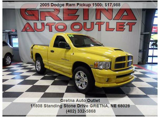 2005 DODGE RAM**SLT RUMBLE BEE ONLY 78,000 MILES HEMI LEATHER-TONNEAU